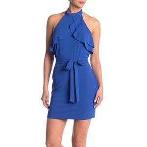 bebe Ruffled Halter Dress PROM
